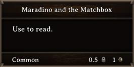 DOS Items Books Maradino And The Matchbox