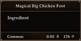 DOS Items CFT Magical Big Chicken Foot