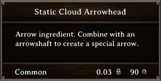 DOS Items CFT Static Cloud Arrowhead Stats