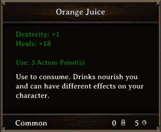 DOS Items Food Orange Juice Stats