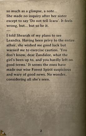 DOS Items Books Zandalor's Journal Page2