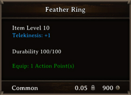 DOS Items CFTX 10.5 Feather Ring