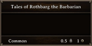 DOS Items Books Tales of Rothbarg the Barbarian 2 Stats