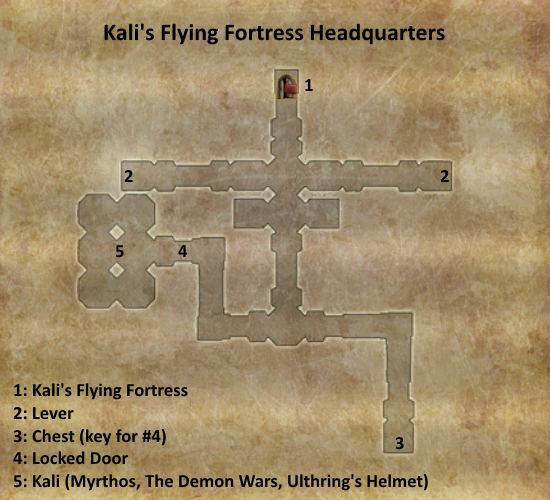 Divinity 2 Kali's Flying Fortress headquarters map