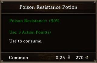 DOS Items Pots Poison Resistance Potion 3 Stats