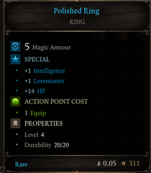 Polished ring