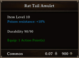 DOS Items CFTX 10.5 Rat Tail Amulet