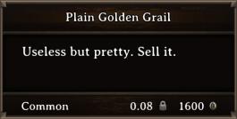 DOS Items Precious Plain Golden Grail