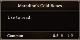 DOS Items Books Maradino's Cold Bones