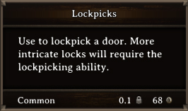 DOS Items Tools Lockpicks