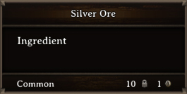 DOS Items CFT Silver Ore