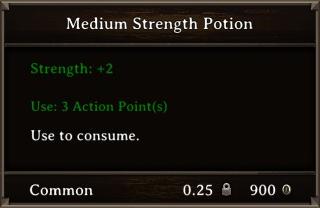 DOS Items Pots Medium Strength Potion Stats