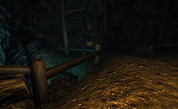 Abandoned Cave interior golden chest at end of tunnels (D2 FoV location)