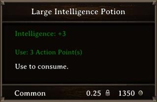 DOS Items Pots Large Intelligence Potion Stats