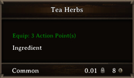 DOS Items CFT Tea Herbs