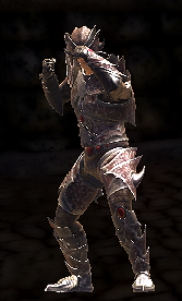 Ulthring's male fighting stance