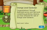 Badge gardening level 1 orange