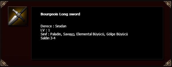 Bourgeois Long sword