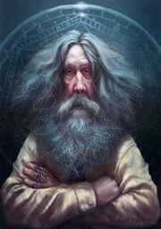 640x909 9488 Alan Moore 2d illustration old man portrait mage fantasy picture image digital art