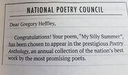 National Poetry Council letter