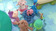 Toys dance around in a circle