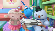 Stuffy, lambie and chilly get their hospital coats