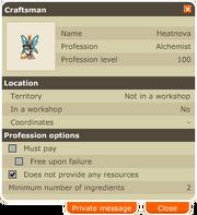 Profession Craftsmen