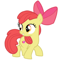 Applebloom with her cutie mark vector by topaz7373-d9clwxo