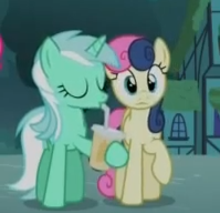 File:Lyra drinks a beverage while the duel goes on S3E05.png