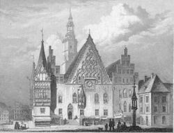 Rathaus in Wroclaw 1860