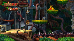 Donkey Kong Country Tropical Freeze Level 1 3 Canopy Chaos