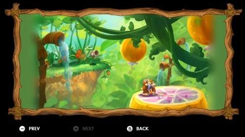 Donkey Kong Country Tropical Freeze - Level 5-A Beehive Brawl All Puzzle Pieces KONG Letters