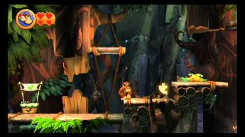 Donkey Kong Country Returns ~ World 5-7 (Wigglevine Wonders) Puzzle Piece K-O-N-G Letters Guide