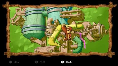 Donkey Kong Country Tropical Freeze - Level 5-1 Harvest Hazards All Puzzle Pieces KONG Letters