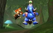 Donkey Kong Racing - DK and Taj on Zingers
