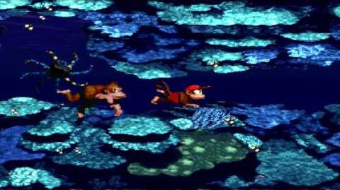 Donkey Kong Country (SNES) - Gorilla Glacier - Croctopus Chase