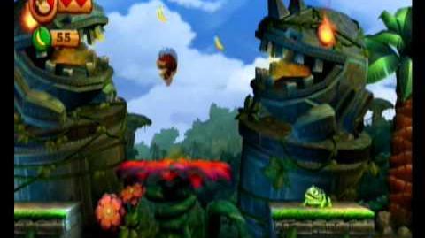 Donkey Kong Country Returns 100% Video Walkthrough 1-1 Jungle Hijinx