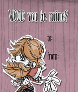 Woodie Valentine Card