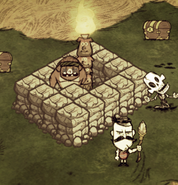 Trapped Guardian Pig