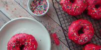 Pink Sprinkled Donuts
