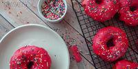 Pink Sprinkled Donuts