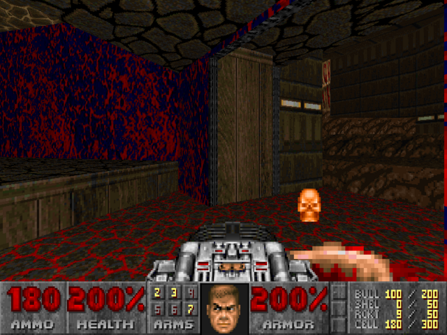 File:Doom2 yellow skull.png