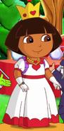 Dora as queen