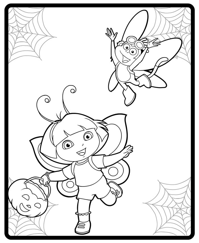 coloring pages dora halloween book - photo#13