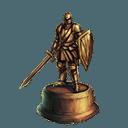 Bronzed gauntlet trophy familiar
