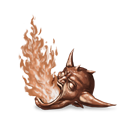 Cursed flames brown