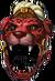 Helm red jaguar warrior