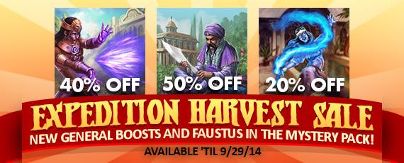Scroller dotd harvest sale 092614