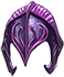 Helm violet knight