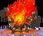 Burning echidna effigy